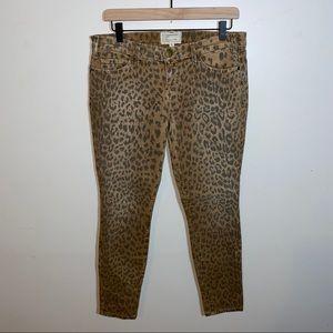 Current/Elliot Stiletto Leopard Jeans